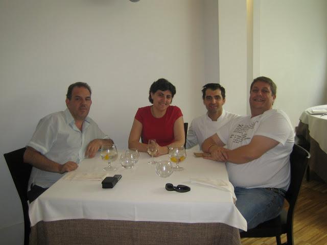 Los tres con Julio