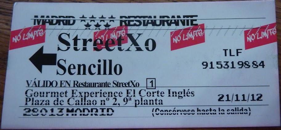 Tarjeta StreetXo