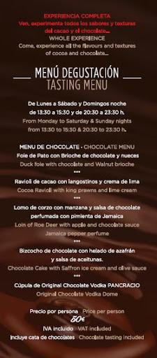 Menu Chocolate Passion